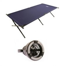 Adventure Kings Camping Stretcher Bed + 2in1 LED Light & Fan