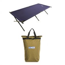 Adventure Kings Camping Stretcher Bed + Doona/Pillow Canvas Bag