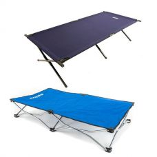 Adventure Kings Camping Stretcher Bed + Kings Folding Pet Bed