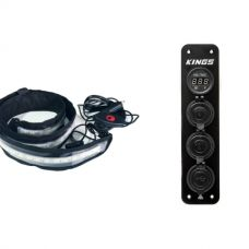 Illuminator MAX LED Strip Light + Adventure Kings 12V Accessory Panel