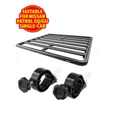 Adventure Kings Aluminium Platform Roof Rack Suitable for Nissan Patrol GQ/GU Single-Cab 1987-2016 + Platform Roofrack Shovel Holder