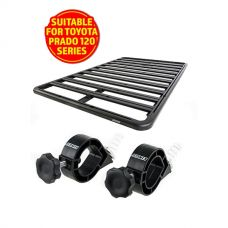 Adventure Kings Aluminium Platform Rack Suitable for Toyota Prado 120 Series + Platform Roofrack Shovel Holder