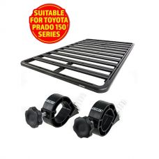 Adventure Kings Aluminium Platform Roof Rack Suitable for Toyota Prado 150 Series 2009+ + Platform Roofrack Shovel Holder