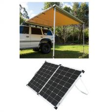 Adventure Kings Awning 2.5x2.5m + Adventure Kings 160w Solar Panel