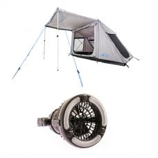 Adventure Kings Swift 5-person Tent + Adventure Kings 2in1 LED Light & Fan