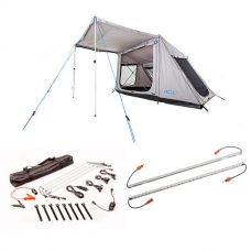 Adventure Kings Swift 5-person Tent + Illuminator 4 Bar Camp Light Kit + Orange LED Camp Light Extension Kit