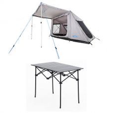 Adventure Kings Swift 5-person Tent + Aluminium Roll-Up Camping Table