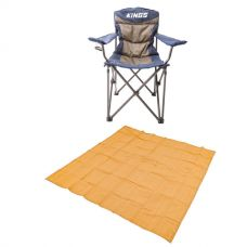Adventure Kings - Mesh Flooring 3m x 3m + Adventure Kings Throne Camping Chair
