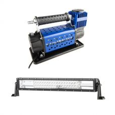 "Thumper 12v Air Compressor 160L/M 150PSI + Domin8r 22"" LED Light Bar"