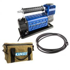 Thumper 12v Air Compressor 160L/M 150PSI + Adventure Kings Canvas Thumper Bag + Air Hose Extension 4m