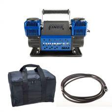 Thumper Max Dual Air Compressor + Kings Polyester Air Compressor Bag + 12v Air Compressor Extension Hose