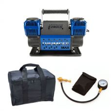 Thumper Max Dual Air Compressor + Kings Polyester Air Compressor Bag + Kwiky Tyre Deflator