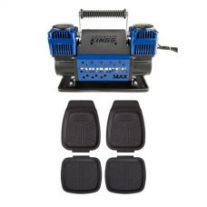 Thumper Max Dual Air Compressor + 4 Pack Kings Deep Dish Floor Mats
