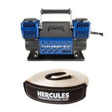 Thumper Max Dual Air Compressor + Hercules 8000kg Snatch Strap