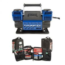 Thumper Max Dual Air Compressor + 100+ Piece Survival 'Vehicle' First-Aid Kit