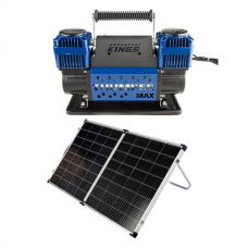 Thumper Max Dual Air Compressor + Kings Premium 160w Solar Panel with MPPT Regulator