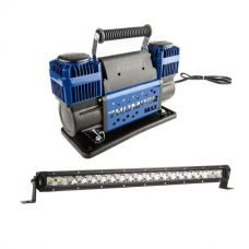 "Thumper Max Dual Air Compressor + Kings 20"" Slim Line LED Light Bar"