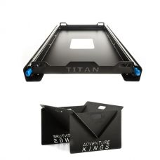 Titan 60L Fridge Slide + Portable Steel Fire Pit
