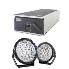 "Titan Single Ute Drawer 1300mm + Kings Lethal 9"" Premium LED Driving Lights (Pair)"