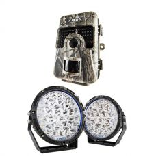 "Kings Lethal 9"" Premium LED Driving Lights (Pair)  + Adventure Kings Trail/Game Camera"