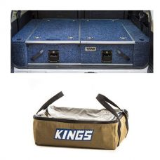 Titan Rear Drawer with Wings suitable for Nissan Patrol DX, ST, STI, ST-S + Adventure Kings Clear Top Canvas Bag