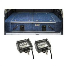 "Titan Rear Drawer with Wings suitable for Toyota Landcruiser 80 Series + 4"" LED Light Bar"