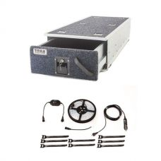 Titan Single Ute Drawer 1300mm + 4-Metre 12v LED Camping Strip Light