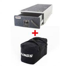 Titan Single Ute Drawer 1300mm + Adventure Kings 40L Duffle Bag