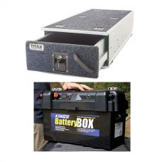 Titan Single Ute Drawer 1300mm + Maxi Battery Box