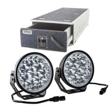 "Titan Single Ute Drawer 1300mm + Kings Domin8r Xtreme 7"" LED Driving Lights (Pair)"