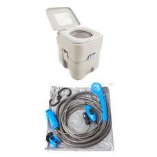 Adventure Kings Portable Camping Toilet + Portable Shower Kit