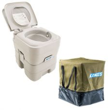 Adventure Kings Portable Camping Toilet + Camping Toilet Bag