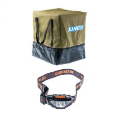 Adventure Kings Camping Toilet Bag + Kings LED Head Torch