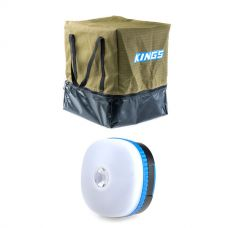 Kings Premium Canvas Camping Toilet Bag + Mini Lantern