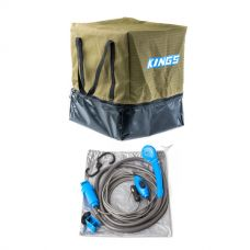 Adventure Kings Camping Toilet Bag + 12v Portable Shower Kit