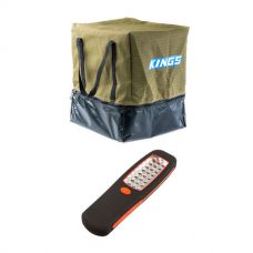 Adventure Kings Camping Toilet Bag + Kings LED Work Light