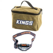 Adventure Kings Toiletry Canvas Bag + LED Head Torch