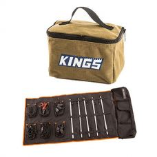 Adventure Kings Toiletry Canvas Bag + Complete 5 Bar Camp Light Kit
