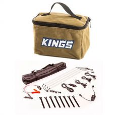 Adventure Kings Toiletry Canvas Bag + Illuminator 4 Bar Camp Light Kit