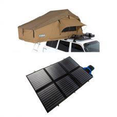 Adventure Kings Roof Top Tent + 120W Portable Solar Blanket