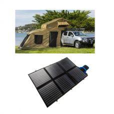 Adventure Kings Roof Top Tent + 6-man Annex + 120W Portable Solar Blanket