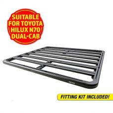 Adventure Kings Aluminium Platform Roof Rack Suitable for Toyota HiLux N70 Dual-Cab 2004-2015