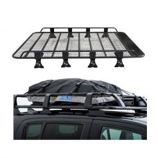 Steel Tradie Roof Racks + Half-Length Premium Waterproof Rooftop Bag