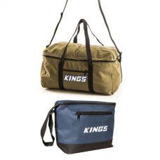 Canvas Travel Bag + Adventure Kings Cooler Bag