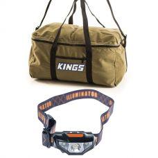 Adventure Kings Travel Canvas Bag + Illuminator LED Head Torch