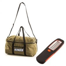 Canvas Travel Bag + Kings LED Work Light