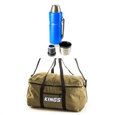 Adventure Kings Travel Canvas Bag + 1.2L Vacuum Flask