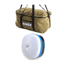 Adventure Kings Travel Canvas Bag + Adventure Kings Mini Lantern