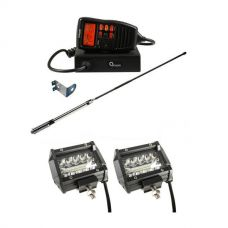 "Oricom UHF380PK In-Car 5W CB Radio + Adventure Kings 4"" LED Light Bar"