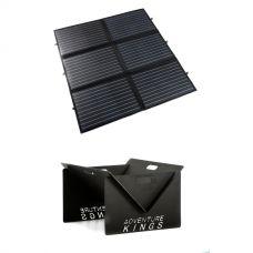 Adventure Kings 200W Portable Solar Blanket + Portable Steel Fire Pit